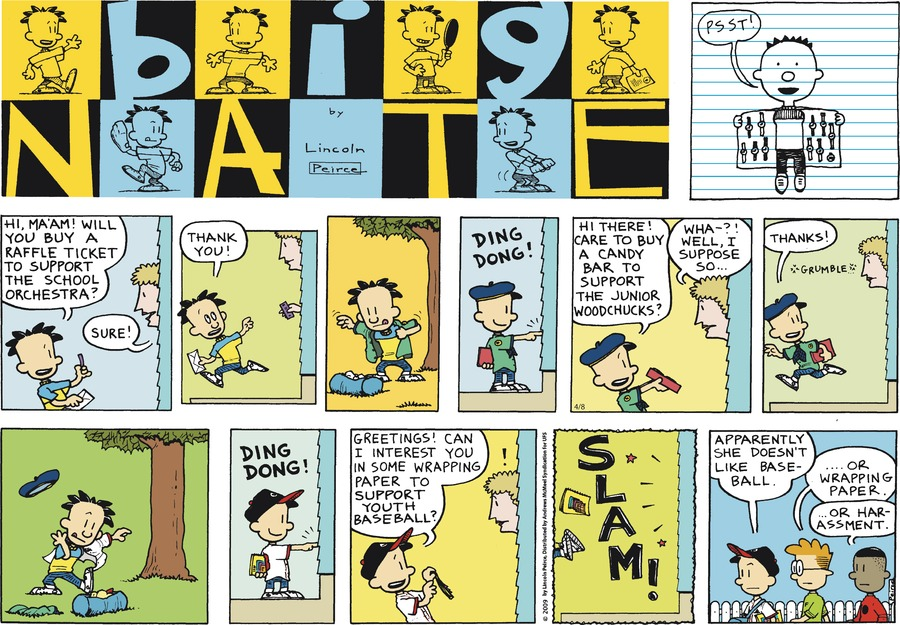 Big Nate Comic Strip for April 08, 2018