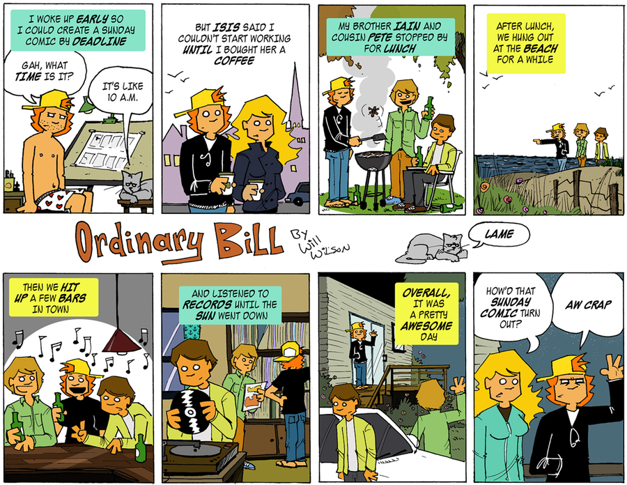 Ordinary Bill Comic Strip for February 20, 2019