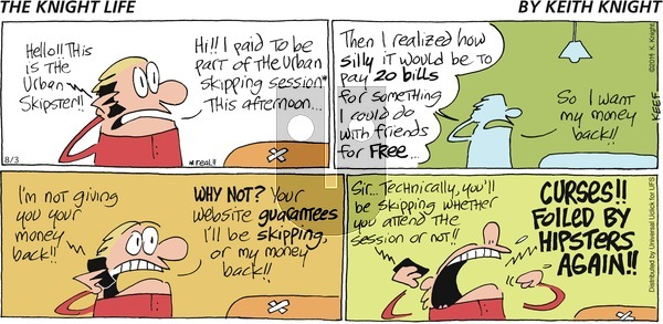 The Knight Life on Sunday August 3, 2014 Comic Strip