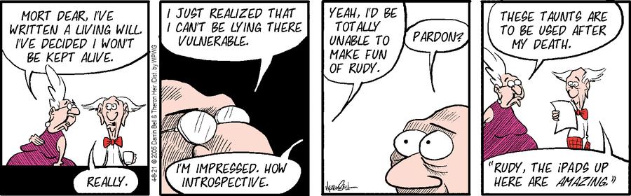 Rudy Park Comic Strip for April 08, 2021