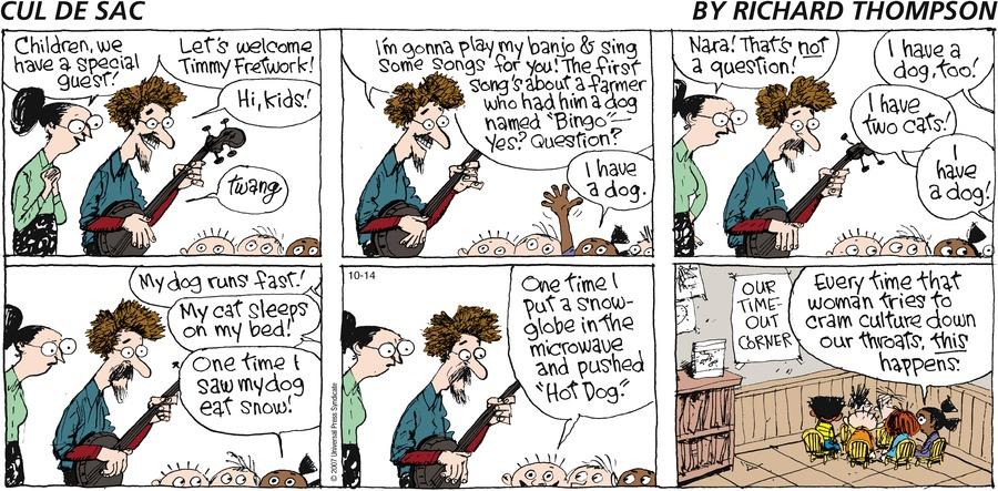 Cul de Sac Comic Strip for October 14, 2007