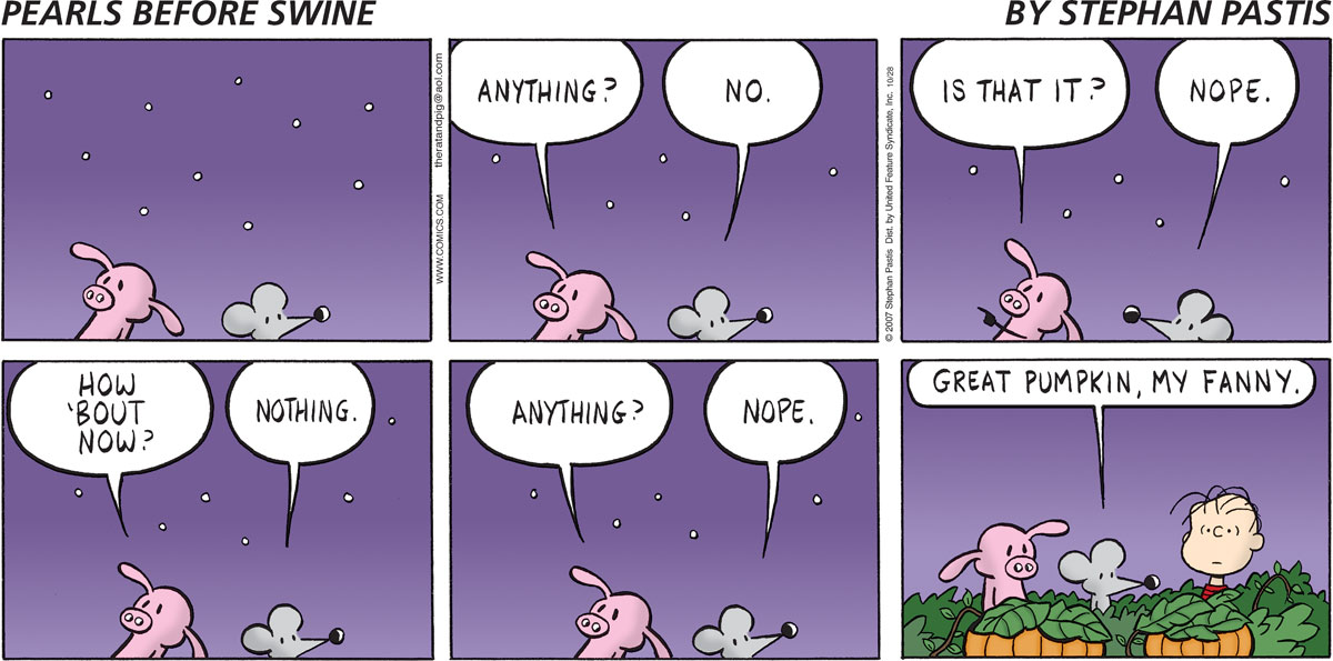 Pearls Before Swine Comic Strip for October 28, 2007
