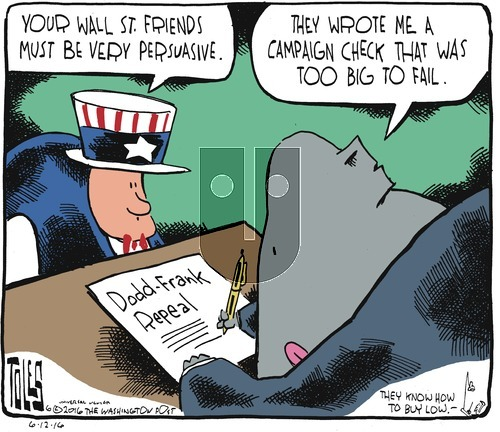 Tom Toles on Sunday June 12, 2016 Comic Strip