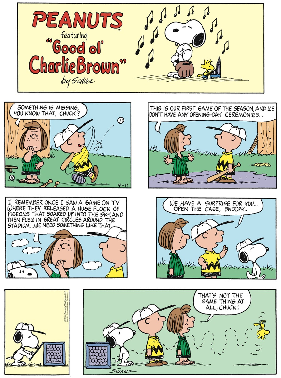 Peanuts by Charles Schulz on Sun, 11 Apr 2021