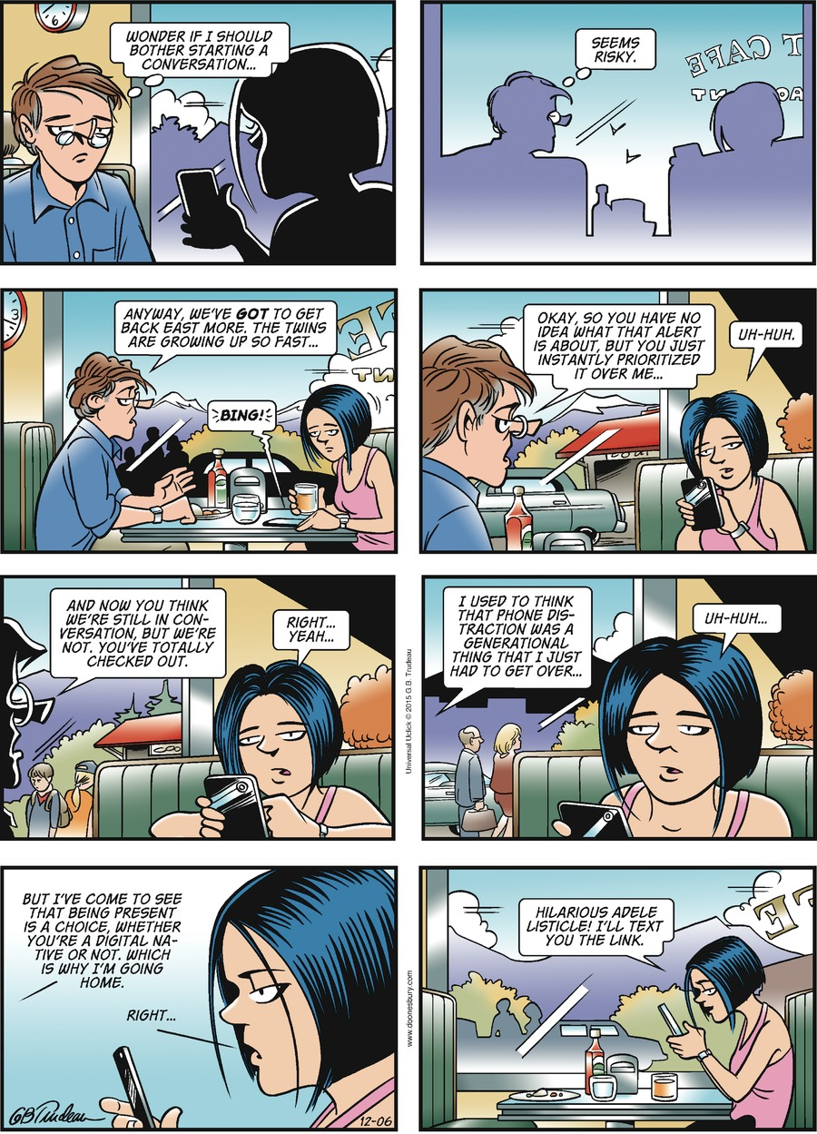Doonesbury Comic Strip for December 06, 2015