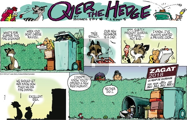 Over the Hedge on Sunday April 1, 2018 Comic Strip