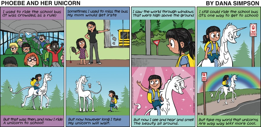 Phoebe and Her Unicorn for Oct 16, 2016 Comic Strip