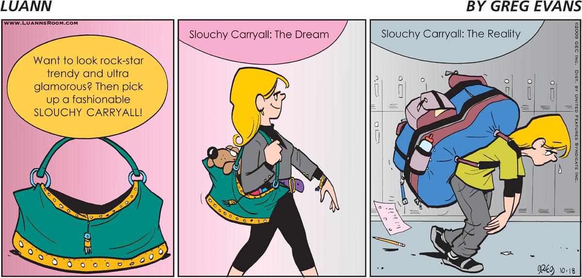 Luann Comic Strip for October 18, 2009