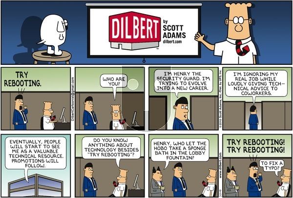 Dilbert on Sunday March 21, 2010 Comic Strip