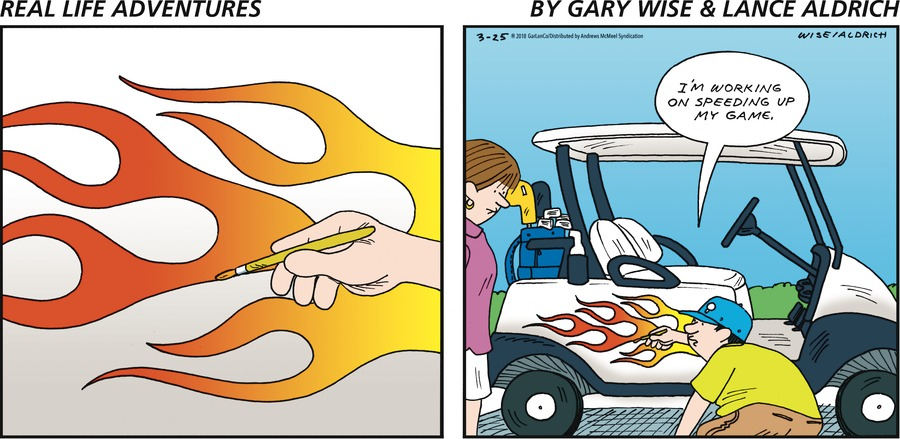 Real Life Adventures for Mar 25, 2018 Comic Strip