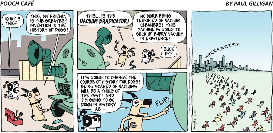 Pooch Cafe Comic Strip for May 31, 2015