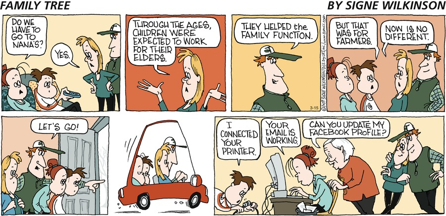 Family Tree Comic Strip for March 15, 2009