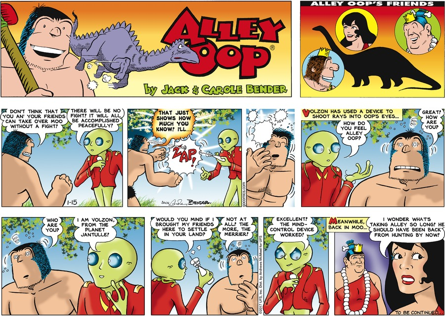 Alley Oop Comic Strip for January 15, 2017
