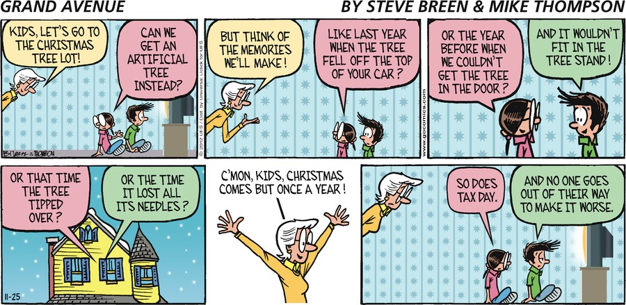 Grand Avenue for Nov 25, 2012 Comic Strip