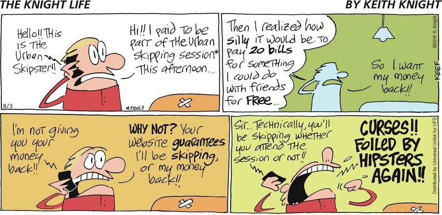 The Knight Life Comic Strip for August 03, 2014