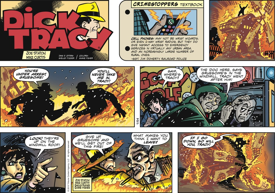 Dick Tracy Comic Strip for January 04, 2015