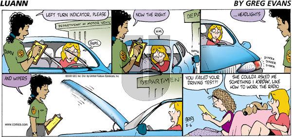 Luann - Sunday August 6, 2000 Comic Strip