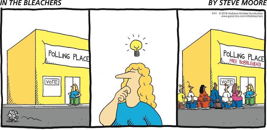 In the Bleachers Comic Strip for June 24, 2018