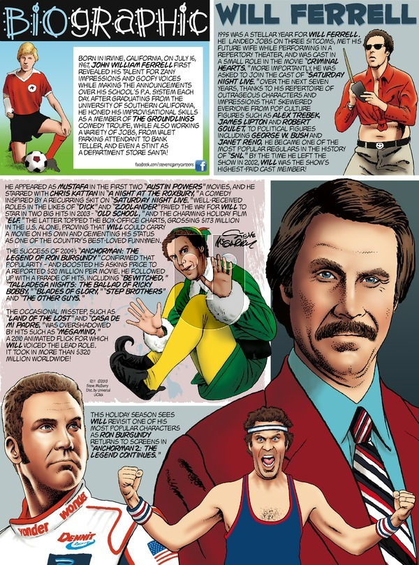 Biographic on Sunday December 1, 2013 Comic Strip