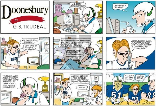 Doonesbury on Sunday July 29, 2001 Comic Strip