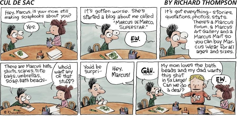 Cul de Sac Comic Strip for October 11, 2009