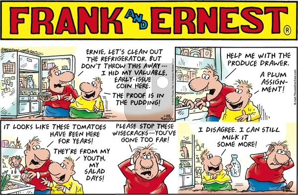 Frank and Ernest on Sunday January 28, 2018 Comic Strip