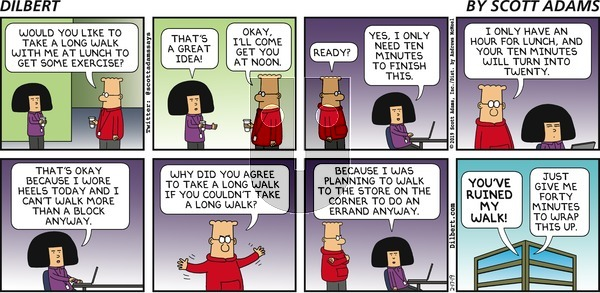 Dilbert on Sunday February 17, 2019 Comic Strip