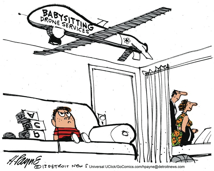 Babysitting drone services