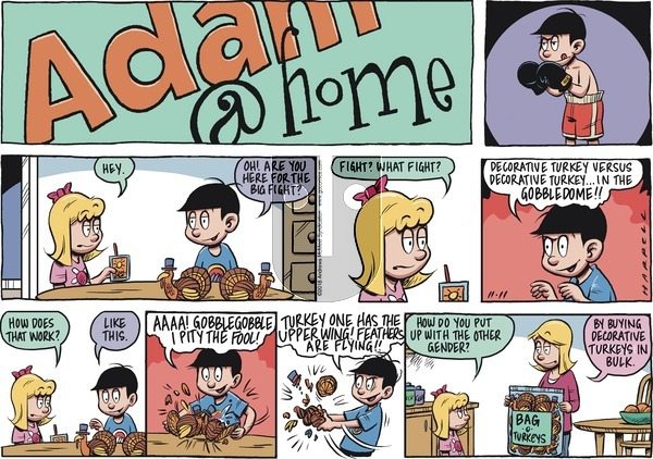 Adam@Home on Sunday November 11, 2018 Comic Strip