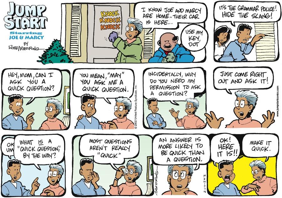 JumpStart Comic Strip for February 17, 2002