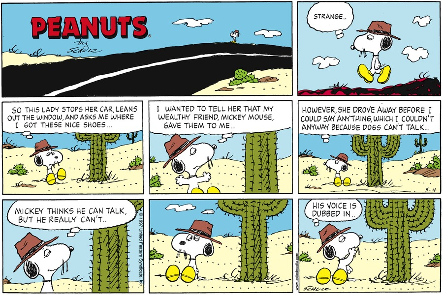 Peanuts for May 4, 1997 Comic Strip