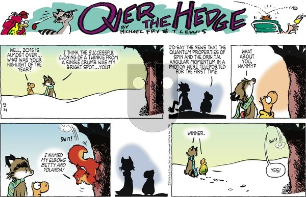 Over the Hedge on Sunday December 27, 2015 Comic Strip