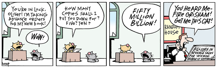 Ten Cats for Mar 26, 2014 Comic Strip
