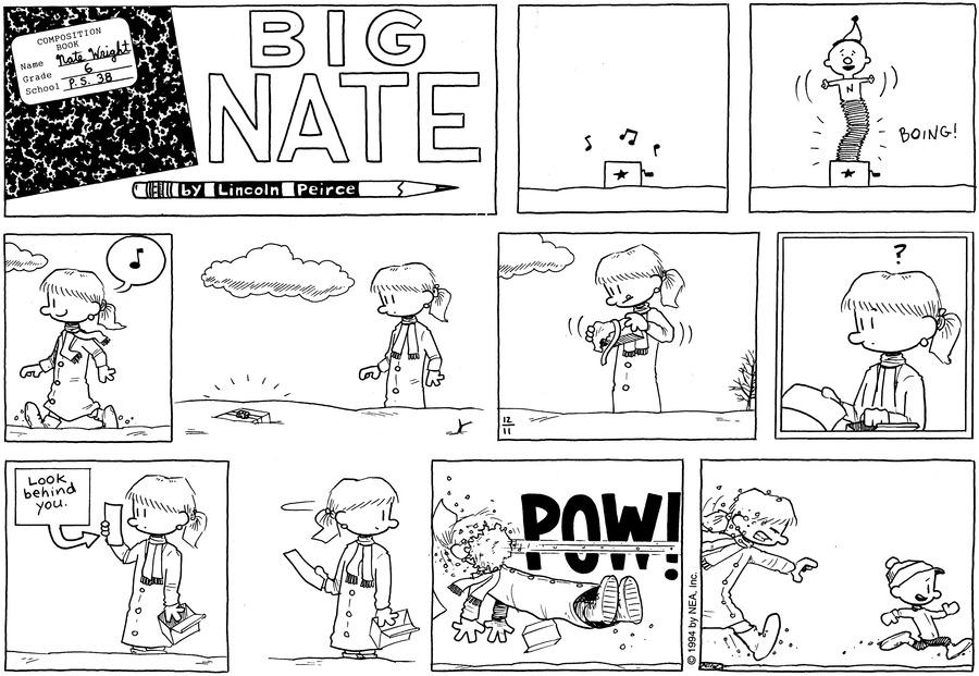 Big Nate Comic Strip for December 11, 1994