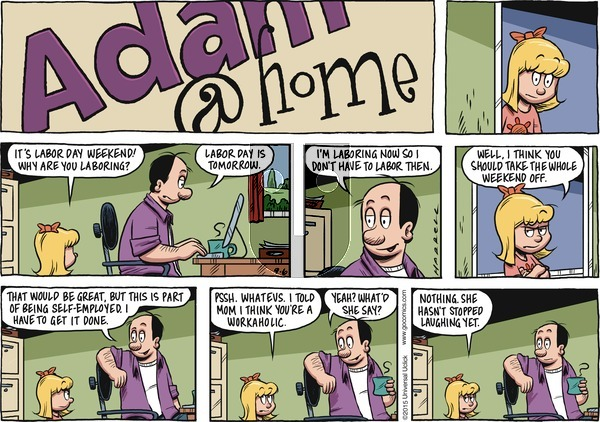 Adam@Home on Sunday September 6, 2015 Comic Strip