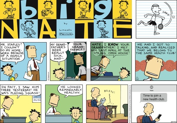 Big Nate on Sunday November 26, 2017 Comic Strip