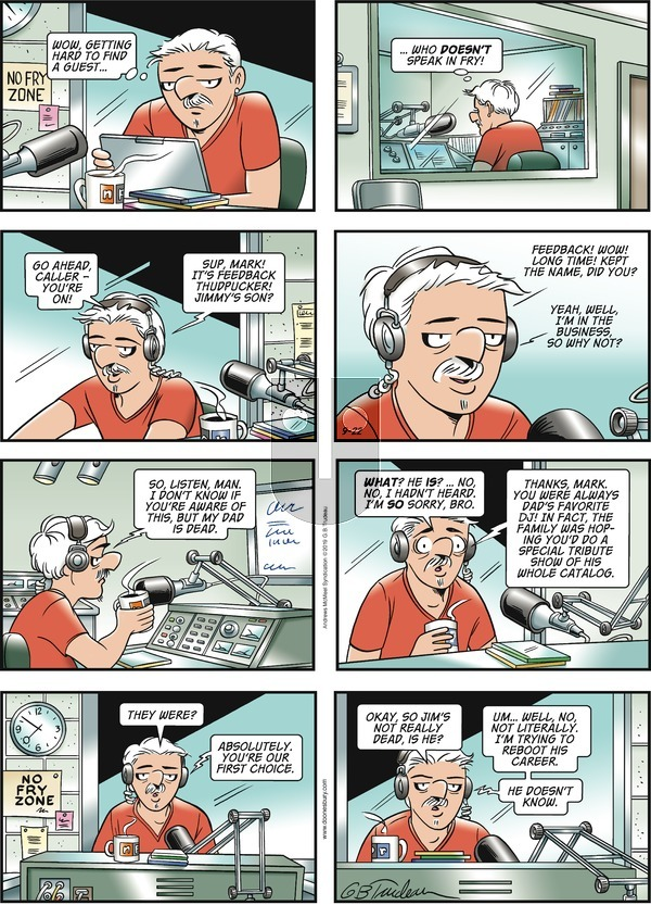 Doonesbury on Sunday September 22, 2019 Comic Strip
