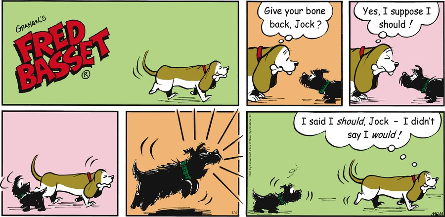 Fred Basset Comic Strip for January 04, 2015