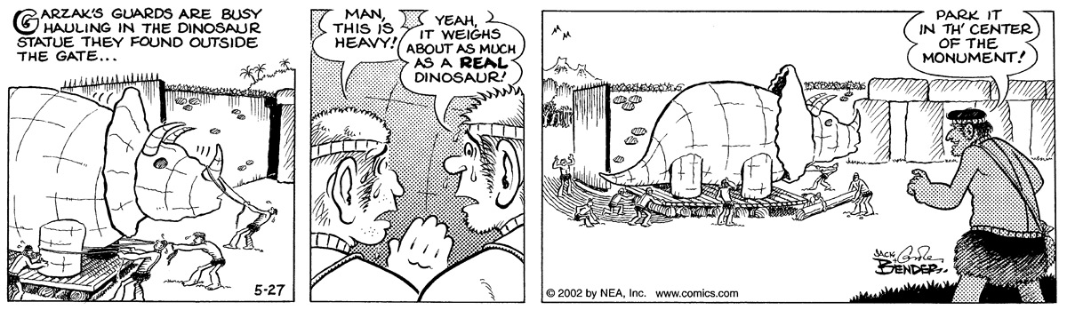 Alley Oop for May 27, 2002 Comic Strip