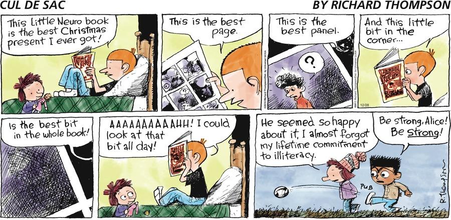 Cul de Sac for Dec 28, 2014 Comic Strip