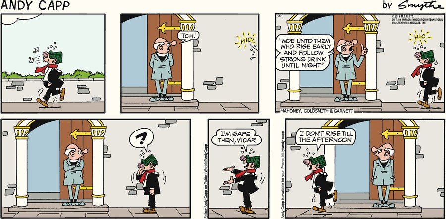 Andy Capp for Aug 18, 2013 Comic Strip