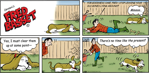 Fred Basset Comic Strip for March 13, 2011
