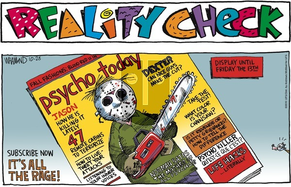 Reality Check on October 28, 2018 Comic Strip