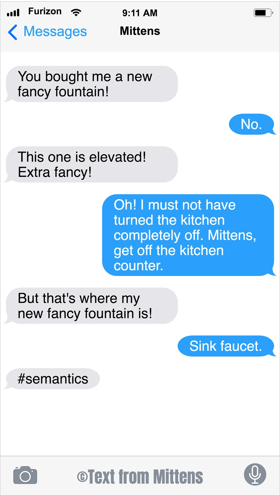 Texts From Mittens Comic Strip for August 30, 2020