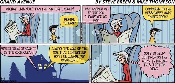 Grand Avenue on Sunday March 11, 2012 Comic Strip