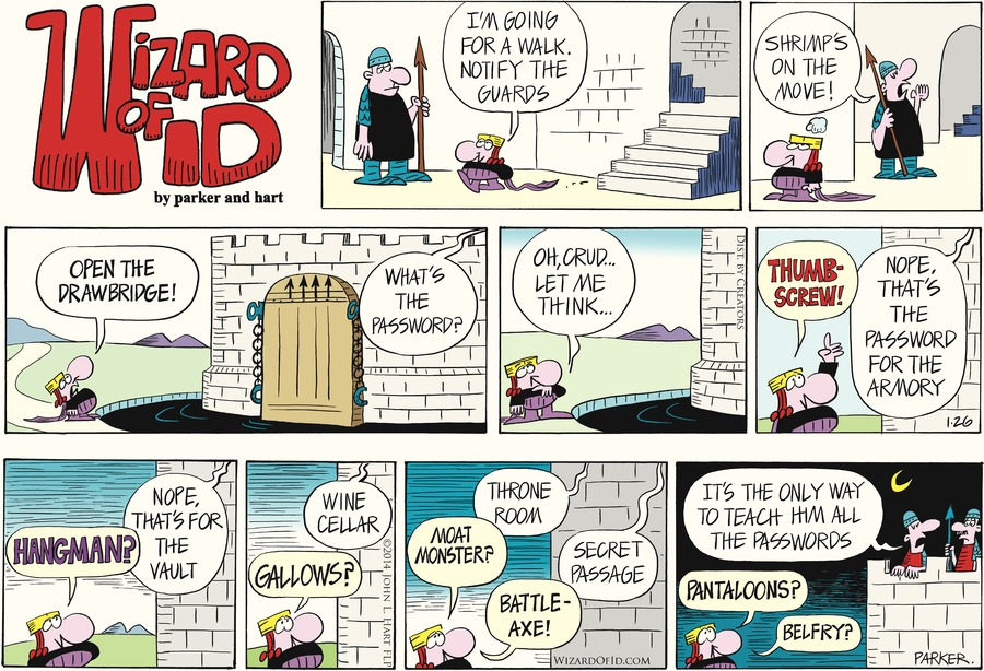Wizard of Id Comic Strip for January 26, 2014