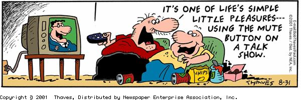 Frank and Ernest Comic Strip for August 31, 2001