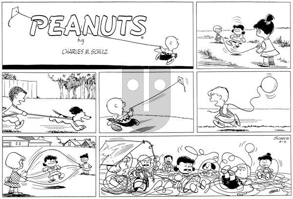 Peanuts on Sunday June 6, 1954 Comic Strip
