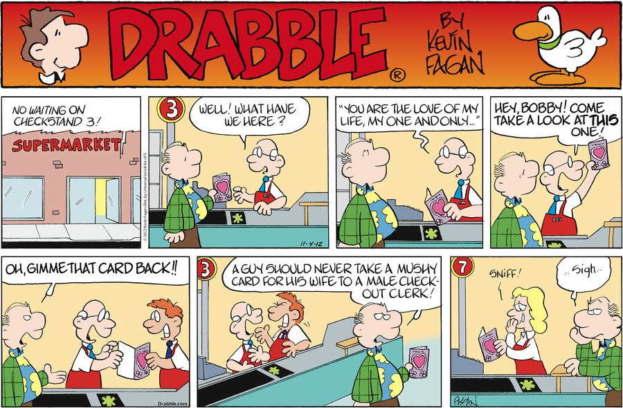 Drabble for Nov 4, 2012 Comic Strip