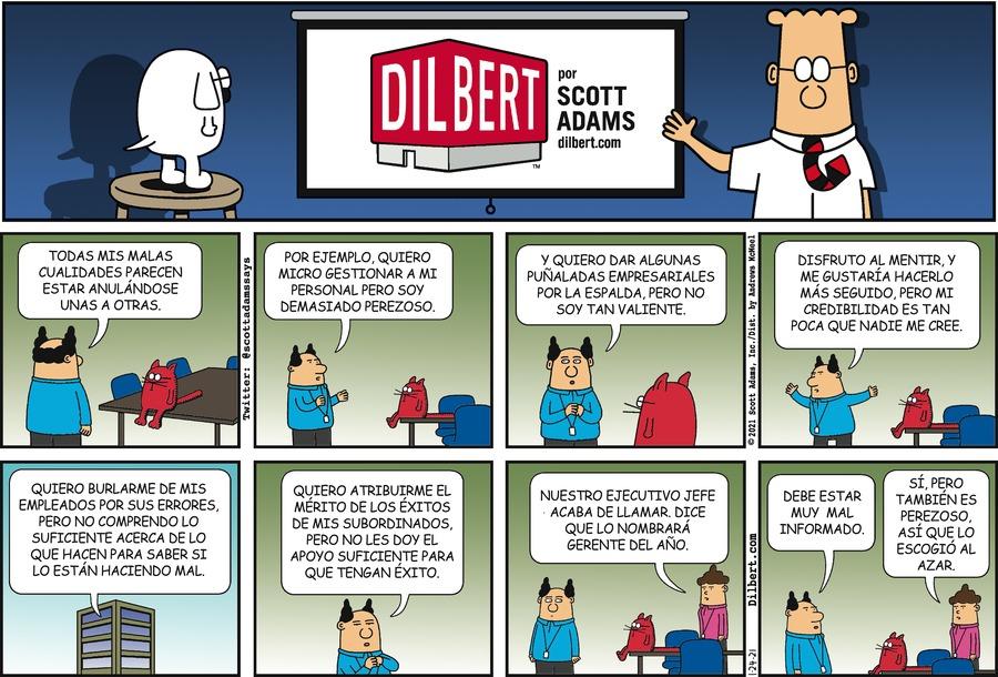 Dilbert en Español Comic Strip for January 24, 2021